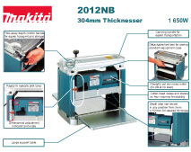 Makita Power Tools South Africa - Thicknesser 2012NB